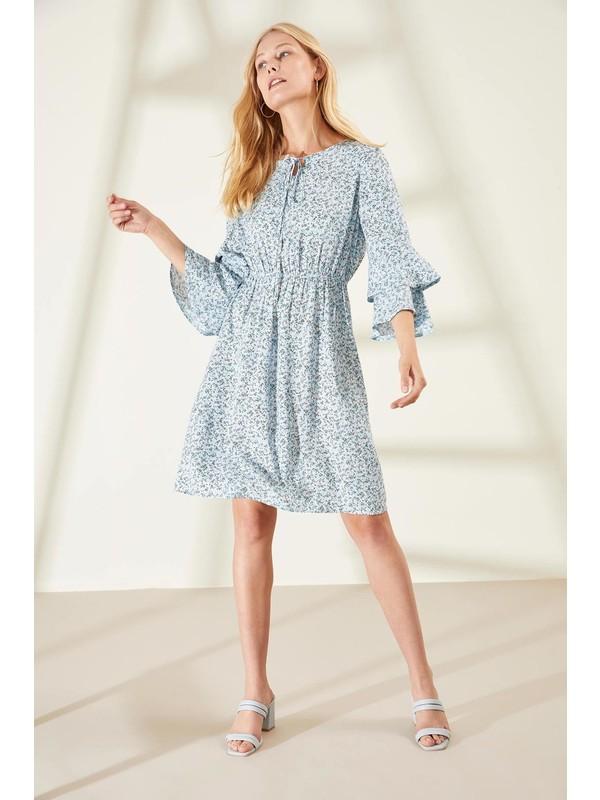 Defacto Kadın Volan Detaylı Elbise