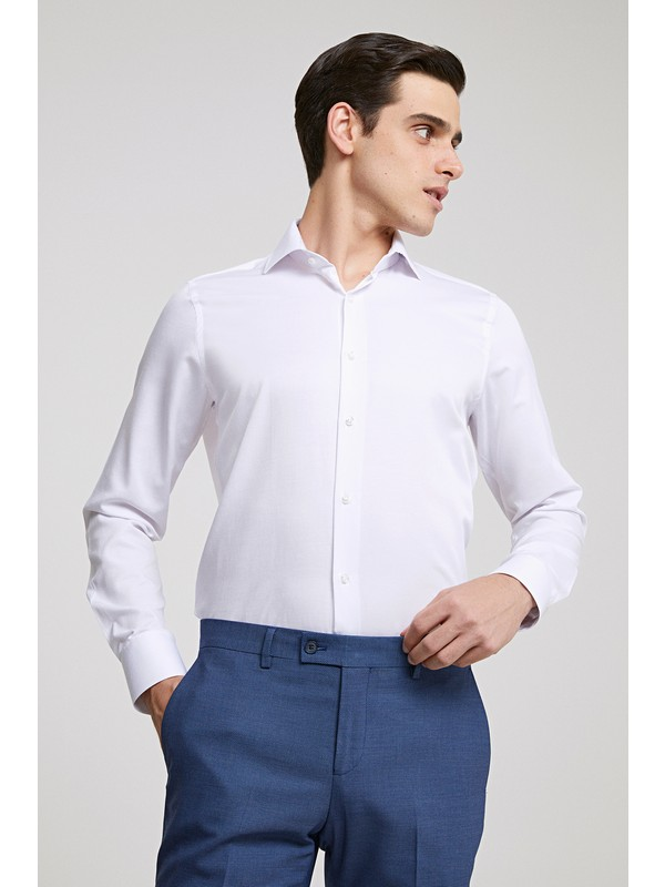 Ds Damat Slim Fit Beyaz Gömlek