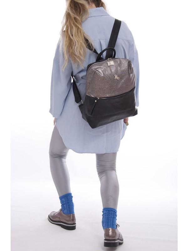 Fume London Kadın Çok Renkli Fermuarlı Yumuşak Deri Sırt Çantası FB3068