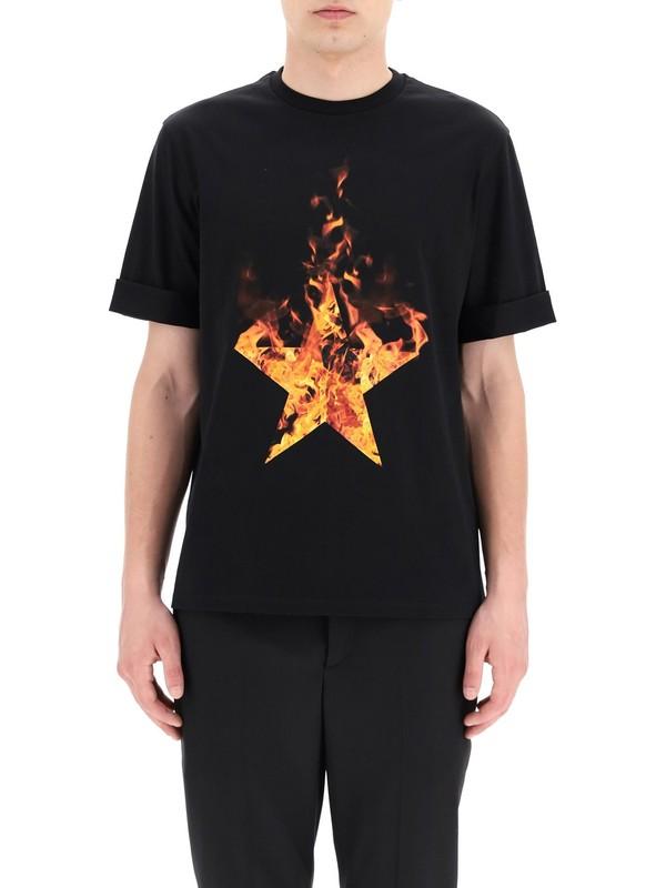 Neil Barrett Erkek T-Shirt PBJT822S-P540S-2366