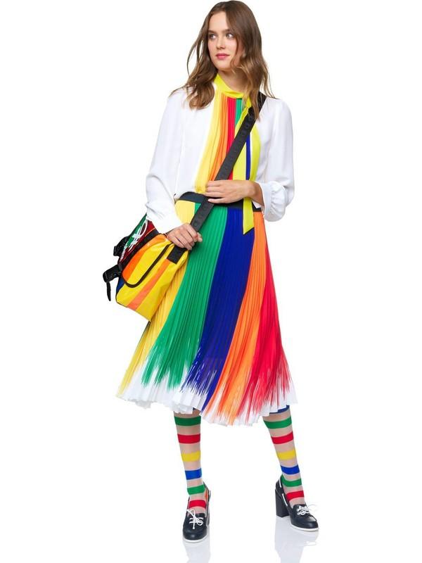 United Colors Of Benetton Renkli Pliseli Etek