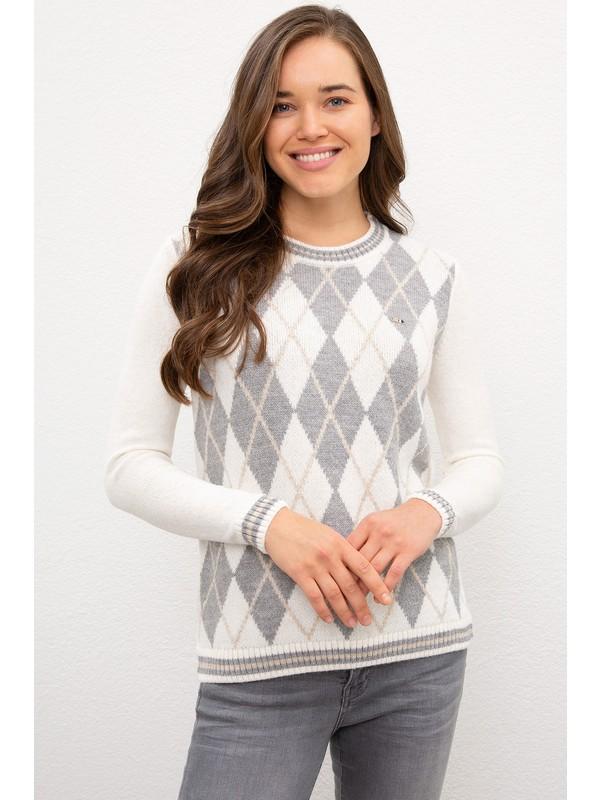 U.S. Polo Assn. Kadın Beyaz Triko Kazak 50229440-VR071