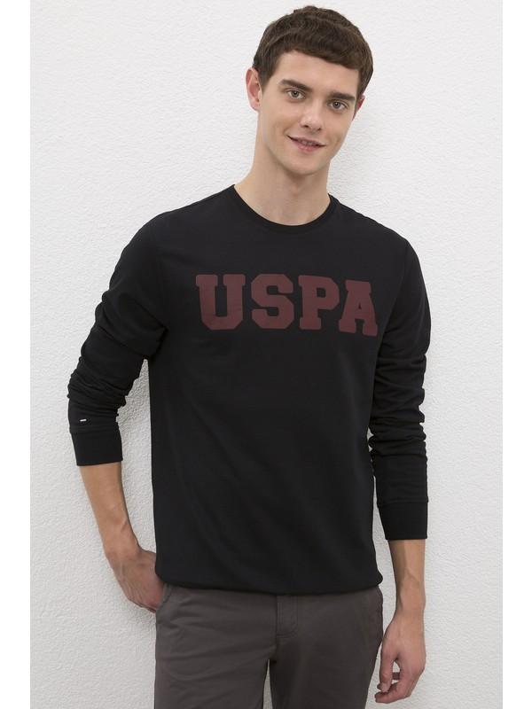 U.S. Polo Assn. Erkek Siyah Sweatshirt Basic 50225478-VR046