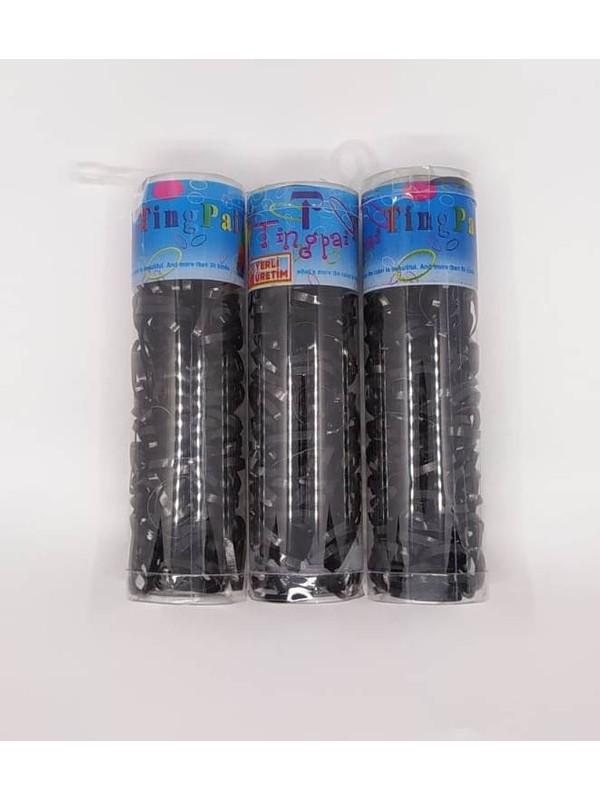 Htg Siyah İnce Lastik Toka 3 Paket Tn136