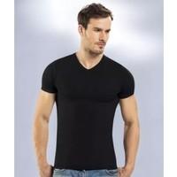 Seher Yıldızı Erkek T-Shirt 3'lü Paket Ribana V Yaka 0061