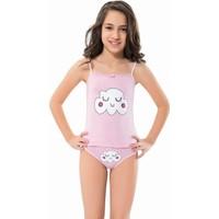 Kız Çocuk Pamuklu Kirpikli Bulut Iç Çamaşırı Takımı