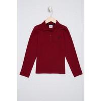 U.S. Polo Assn. Kız Çocuk Kırmızı Sweatshirt Basic 50226154-VR030