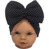 Özlem Bebe Siyah Puanlı Fiyonklu Kız Bebek Bone