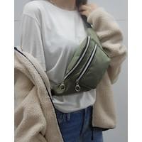 Moda West Kadın Yeşil Askılı Çapraz Omuz ve Bel Çantası