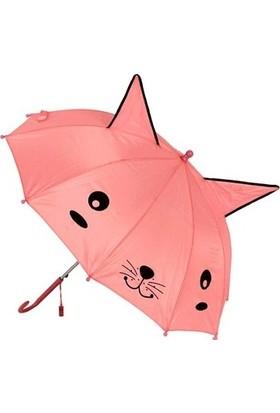 Mobgift Kulaklı Düdüklü Çocuk Şemsiyesi Pembe