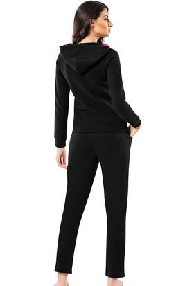 Şahinler Kadın Siyah Kapşonlu Eşofman Takımı MBP23615-1