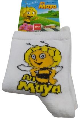 Şirin Çorap Şirinler Minions Peanuts Çizgi Film Karakterli Renkli Çocuk Çorabı 5'li