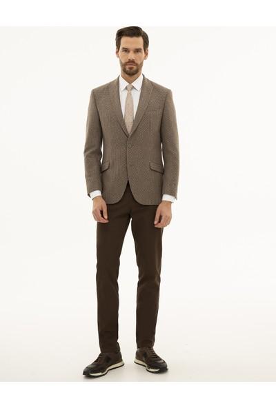 Pierre Cardin Erkek Açık Kahverengi Ekstra Slim Ceket 50226169-VR002