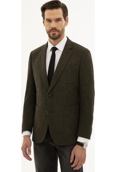 Pierre Cardin Erkek Haki Slim Fit Ceket 50226171-VR027
