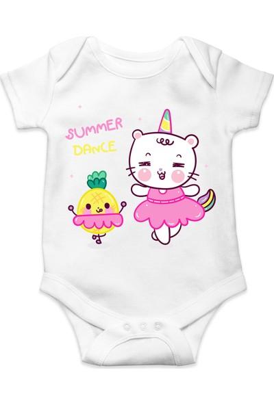 Du Summer Dance Baskılı Kız Bebek Zıbın