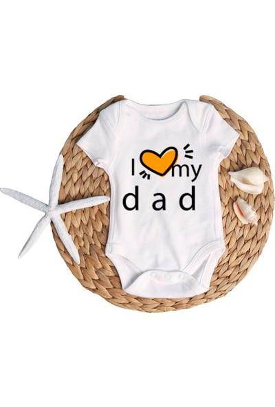 Du Babam Kalp Ben Baskılı Erkek Bebek Zıbın