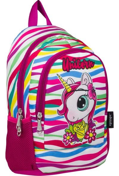 Ümit Çanta Cennec Sevimli Unicorn Kız Çocuk Anaokulu ve Günlük Sırt Çantası