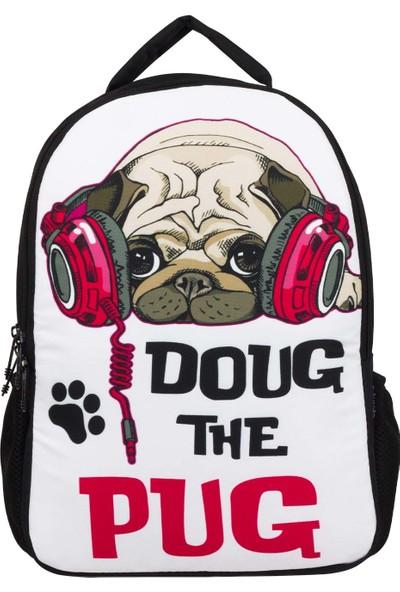 Ümit Çanta Cennec Müziksever Köpek Okul ve Günlük Sırt Çantası - Doug The Pug