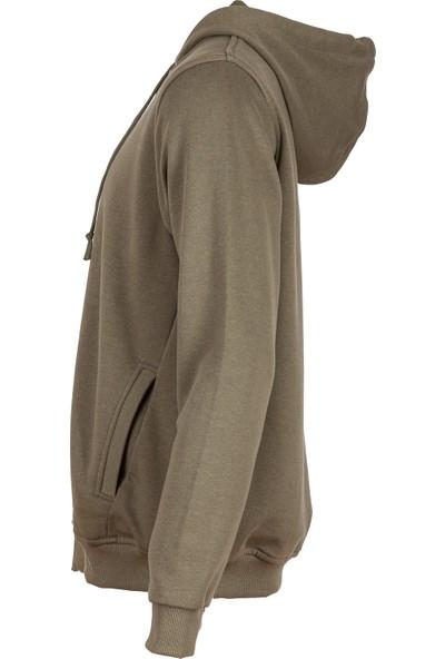 Radyum Kapüşonlu Fermuarlı Sweatshirt