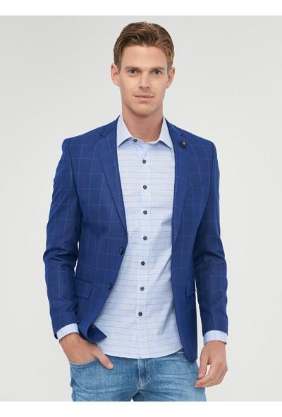 Altınyıldız Classics Slim Fit Kareli Ceket