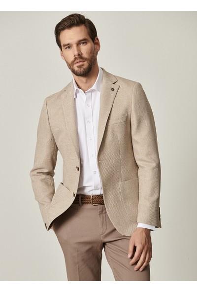 Altınyıldız Classics Slim Fit Dar Kesim Desenli Casual Ceket