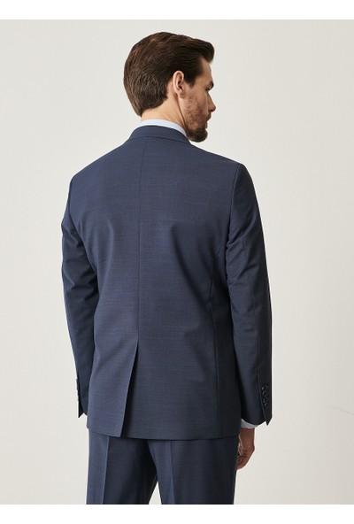 Altınyıldız Classics Regular Fit 4 Drop Desenli Lacivert Yünlü Takım Elbise
