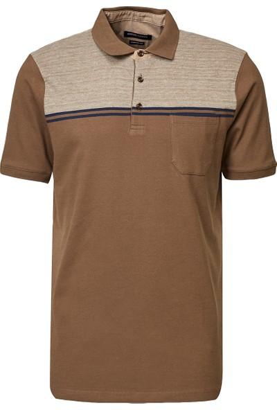 Altınyıldız Classics Polo Yaka Cepsiz Regular Fit Bol Kesim Jakarlı Tişört