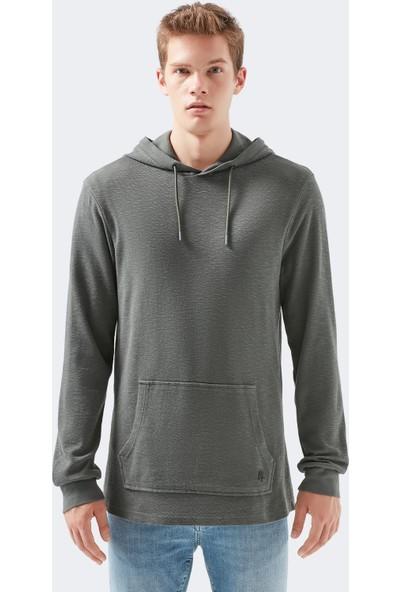 Kapüşonlu Yeşil Sweatshirt 066499-32950