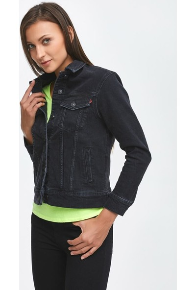 LTB Mona Black Tint Wash Kadın Jeans Ceket