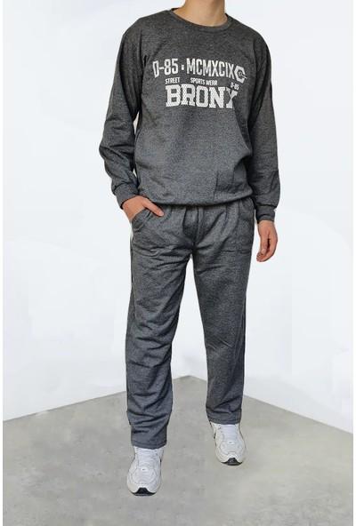 Tampap Erkek Kalın Kışlık Cepli Pijama Takımı D-85