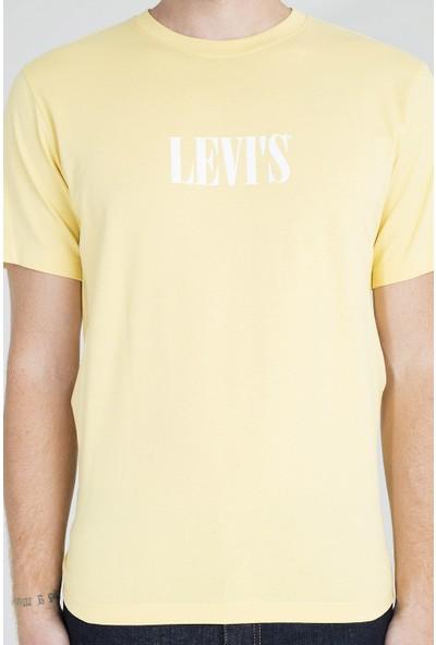 Levi's Logo Baskılı Bisiklet Yaka Rahat Kesim T Shirt Erkek T Shirt 161430057