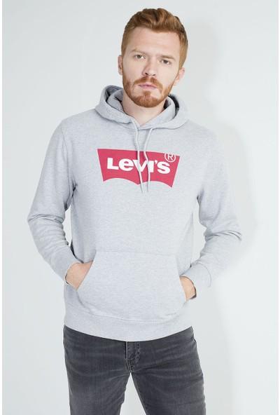 Levi's Logo Baskılı Kapüşonlu % 100 Pamuklu Erkek Sweat 19491