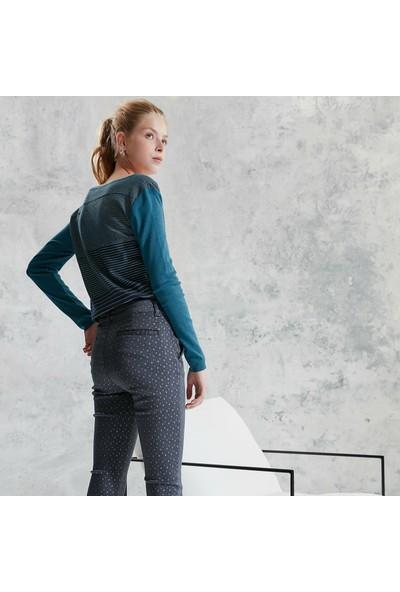 Yargıcı Kadın Kemer Detaylı Pantolon