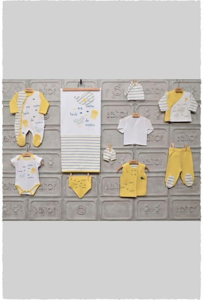 Bebitof 10017 Erkek Bebek Balina 10 Parça Hastane Çıkış Zıbın Seti