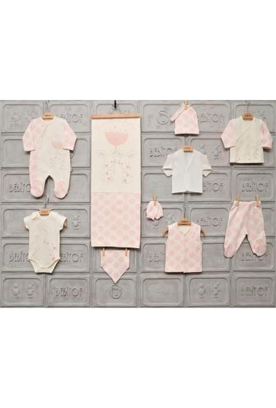 Bebitof Tavşan Aşkı Kız Bebek 10'lu Hastane Çıkış Seti 10009