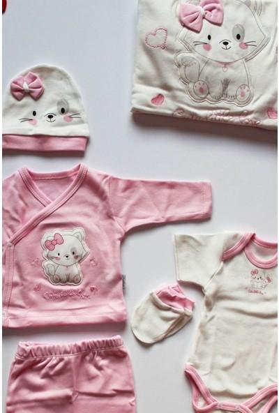 Sebi 9173 Kız Bebek Pamuklu 10'lu Hastane Çıkış Seti