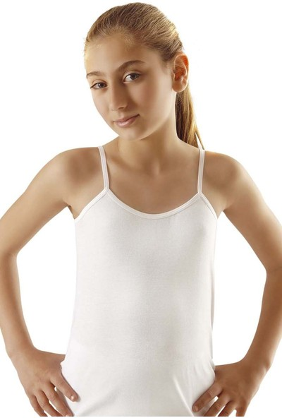 Türen 418 Kız Çocuk Pamuklu Ip Askılı Kaşkorse Atlet 2'li Paket