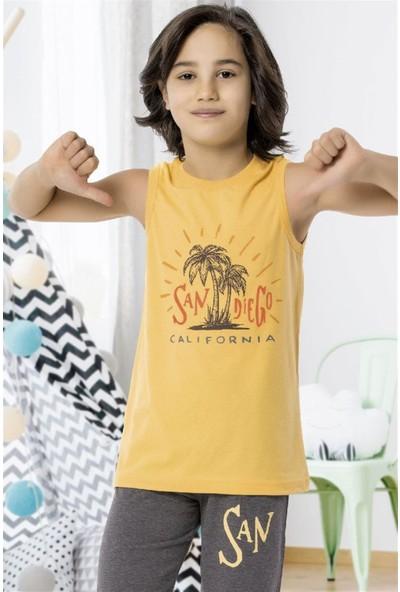 Hmd 5477 California Erkek Çocuk Pamuklu Şortlu Takım