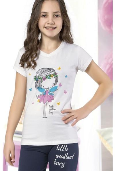 Hmd 6105 Little Woodland Kız Çocuk Pamuklu Kapri Takım