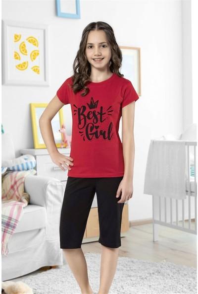 Hmd 6116 Best Girl Kız Çocuk Pamuklu Kapri Takım
