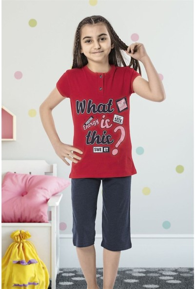 Hmd 6146 Energy Kız Çocuk Pamuklu Kapri Takım