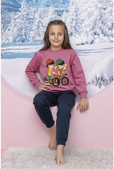 Hmd 6166 Pembe Kız Çocuk Eşofman Takım