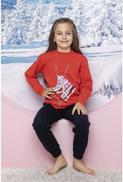 Hmd 6174 Patenli Kız Çocuk Pijama Takımı