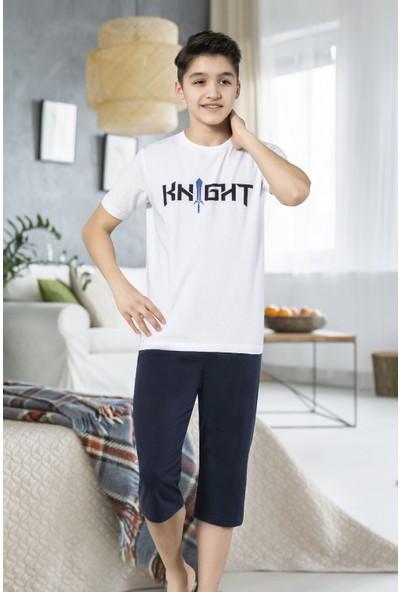 Hmd 7082 Knight Erkek Çocuk Pamuklu Kısa Kol Kapri Takım