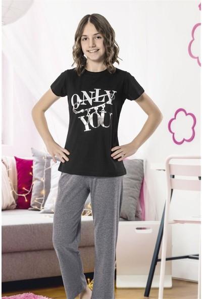 Hmd 8092 Only You Kız Çocuk Pamuklu Kısa Kol Pijama Takımı