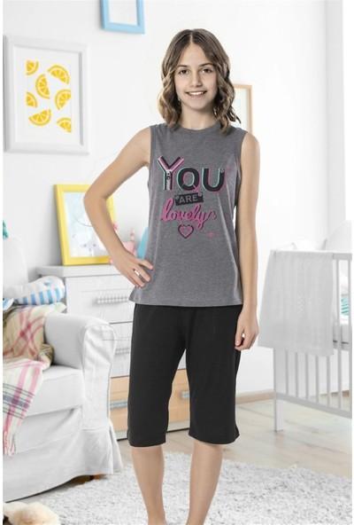 Hmd 8096 Lovely Kız Çocuk Pamuklu Sıfır Kol Şort Takım