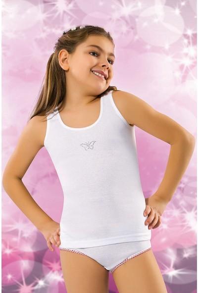 Kız Çocuk Ribana Taşlı Atlet 6'lı Paket