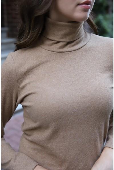 Melinka Butik Balıkçı Yaka Mini Elbise - Bej