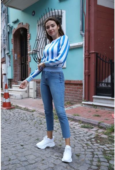 Melinka Butik Boyfriend Jeans - Mavi