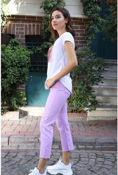 Melinka Butik Boyfriend Jeans - Lila